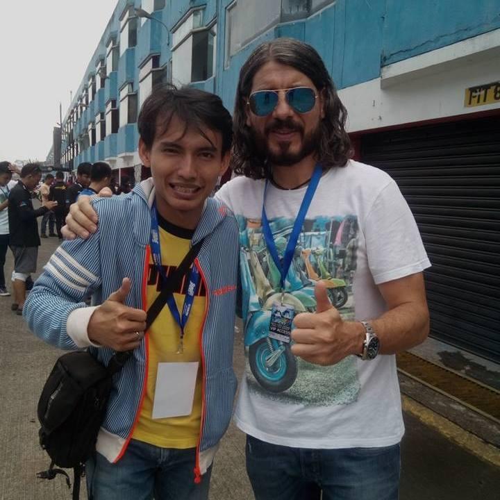 Saya dan komentator kondang MotoGP :D