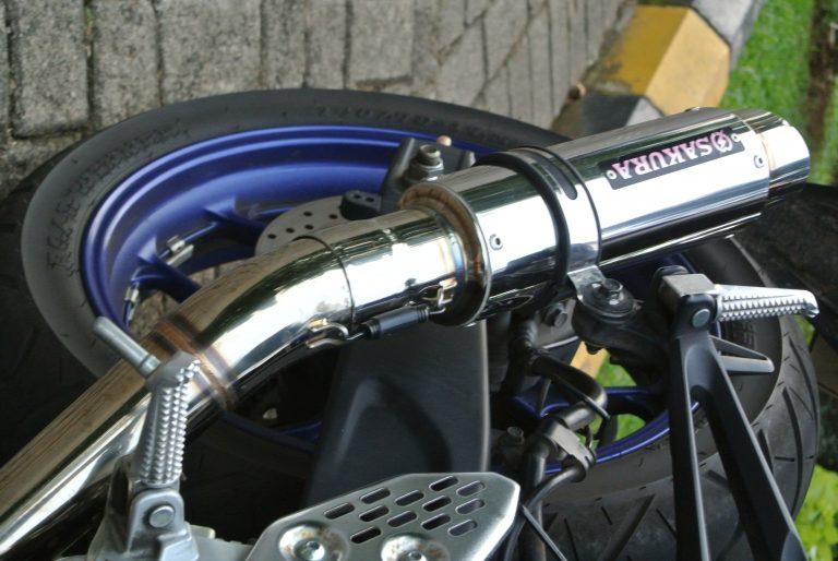 Mencoba Muffler Prototype Sakura AR04 Dengan Slincer SUS Untuk R25