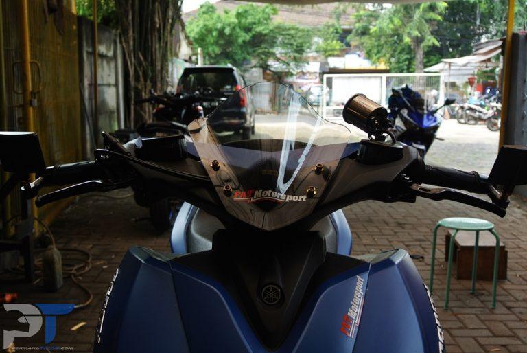 Pasang Visor Sectbil Bikin Yamaha Aerox 155VVA Makin Sedap Dipandang!