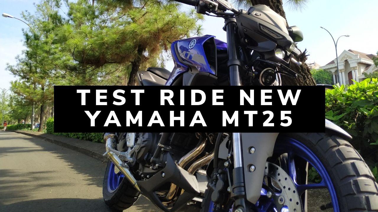 test ride New Yamaha MT25