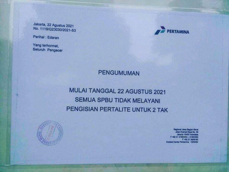 Breaking News, Mulai Besok SPBU Pertamina Tidak Layani Motor 2 Tak Isi Pertalite!